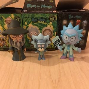 Set of 3 rick and morty mystery minis